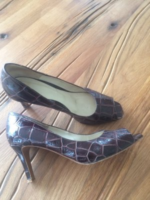 Elegante, stylische Leder - Peep Toes