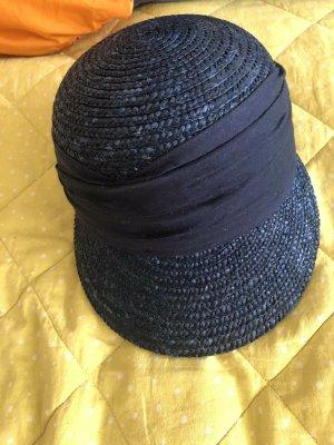 Seeberger Sun Hat dark blue mixture fibre