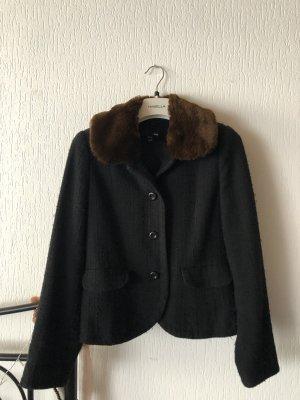 H&M Blazer Tweed negro-marrón