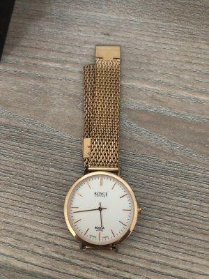 Boccia Zegarek z metalowym paskiem złoto