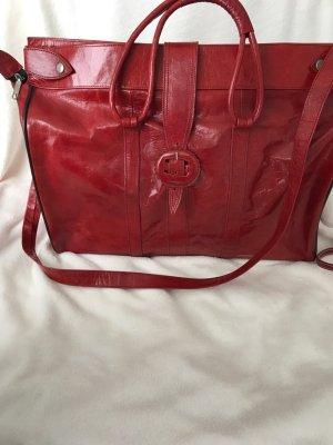 Elegante Vintage Stil Damen Tasche rot Lackleder