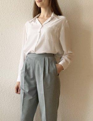 Vintage Pantalón de pinza gris pizarra-azul pálido