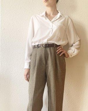 Vintage Pantalon en laine noir-brun laine