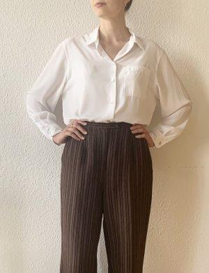 Elegante Vintagehose mit Nadelstreifen in braun- Leinen R ayon Mix