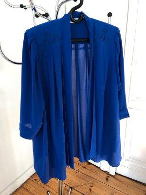 elegante weich fliessende Jacke in kornblumenblau