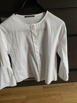 Elegante weise Bluse von Luisa Cerano, Gr.36, ein Mal getragen