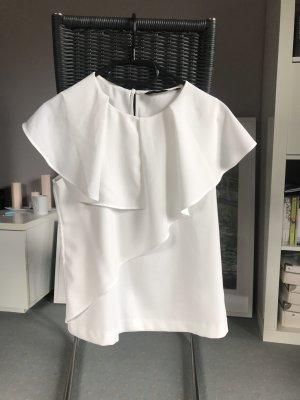 Elegante weiße Bluse von Zara neuwertig