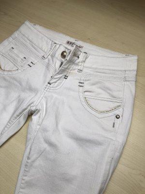 Elegante weisse jeans Fracomina mit gold und Strass