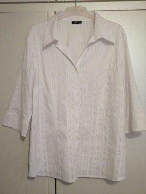 Bexley's Woman Camicetta a maniche lunghe bianco Cotone