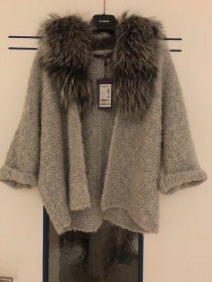 Laurèl Chaqueta de lana gris claro lana de alpaca