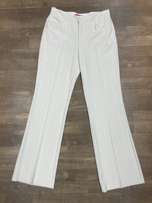 Zagora Pantalone a pieghe bianco sporco Poliestere