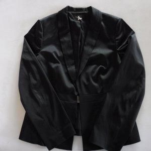 Esprit Blazer de esmoquin negro tejido mezclado