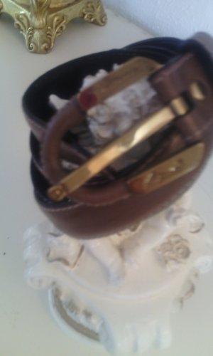 Aigner Cintura marrone-oro Pelle