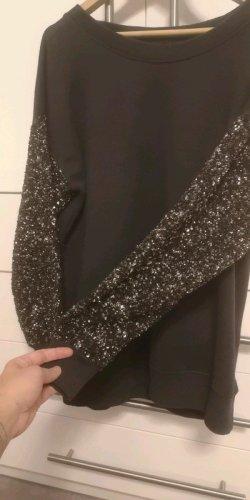 Allsaints Spitalfields Kraagloze sweater donkergrijs-antraciet Gemengd weefsel