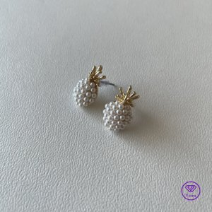 Viona Clou d'oreille doré-blanc