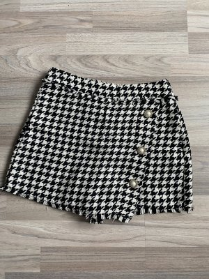 Bershka Falda pantalón negro-blanco