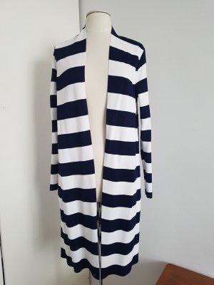 Esprit Abrigo de punto blanco-azul