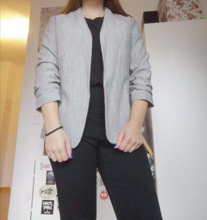 H&M Blazer in jeans grigio chiaro