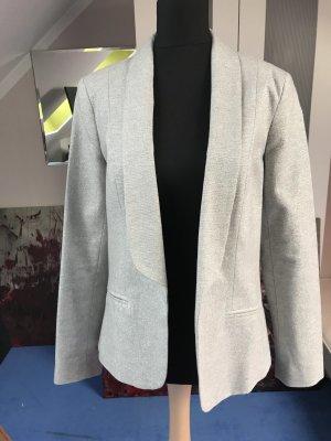 Anthropologie Tuxedo Blazer silver-colored-light grey