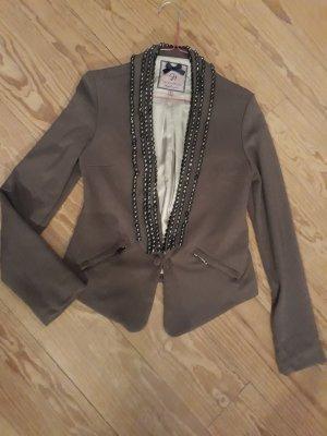Silvian heach Blazer en jersey gris brun