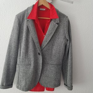 Alberto Venturini Tweed blazer grijs-wit