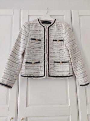 Zara Tweed Blazer dark grey-natural white