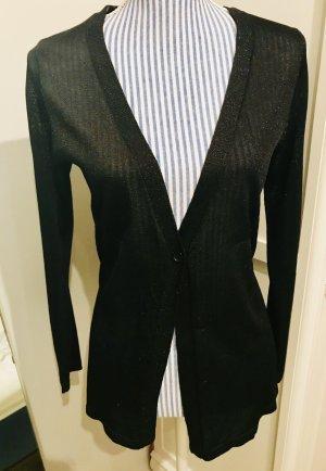 Eleganter Cardigan in schwarz-glitzernd