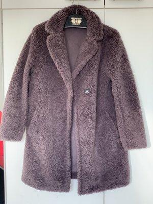 Uniqlo Manteau polaire gris foncé polyester