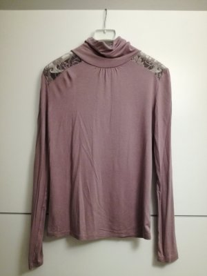 3 Suisses Turtleneck Sweater mauve viscose