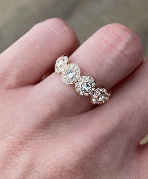Swarovski Złoty pierścionek Wielokolorowy