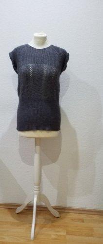 Kookai Sweter bez rękawów z cienkiej dzianiny szary