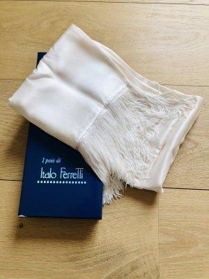 Bufanda de seda blanco-blanco puro Seda