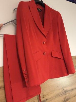 Madeleine Pantalone da abito rosso mattone Acetato