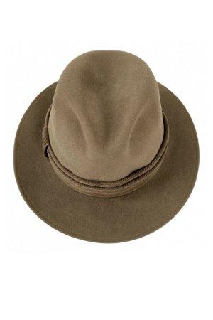 MAYSER Wełniany kapelusz jasnobrązowy-brązowy