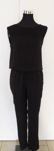 Eleganter Jumpsuit Overall Einteiler schwarz Gr. 36