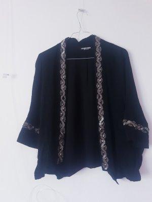Fashion Union Kimono nero-argento