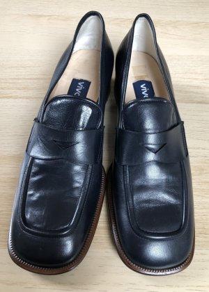 Eleganter Leder-Loofer Vintage