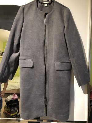H&M Trench Coat grey-silver-colored