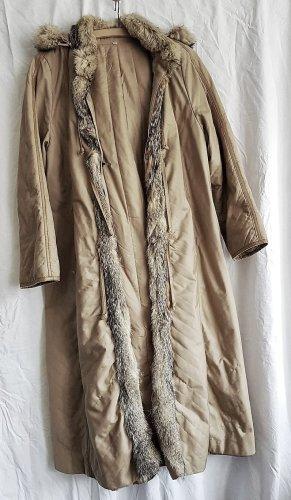 eleganter Mantel mit Gris-Fuchsfellbesatz