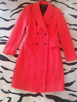 Zara Cappotto in lana rosso