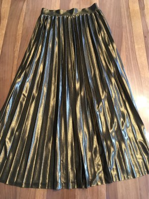 Only Pleated Skirt gold-colored