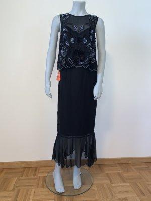 Eleganter neues Chiffonkleid von Frock & Frill Gr.34 schwarz