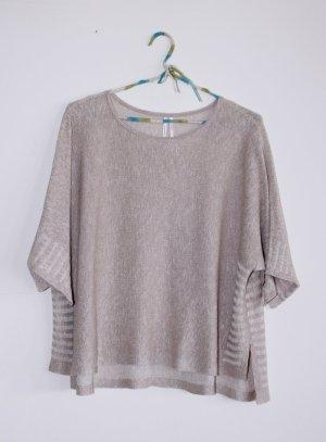 Anthropologie Short Sleeve Sweater multicolored linen