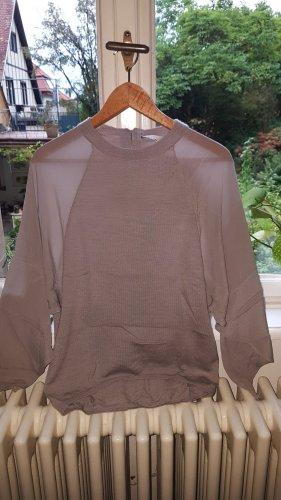 Wrap London Wełniany sweter jasnoszary