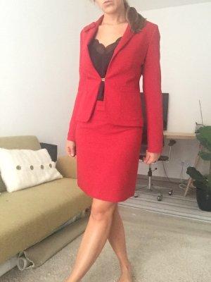 Hallhuber Spódnica midi czerwony neonowy Poliester