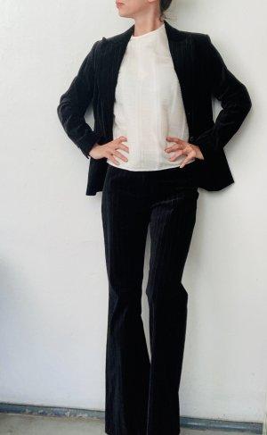 H&M Pinstripe Suit black-white