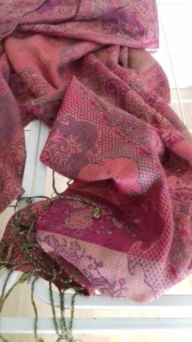 Écharpe à franges multicolore laine