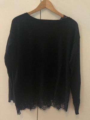 Eleganter schwarz Pullover