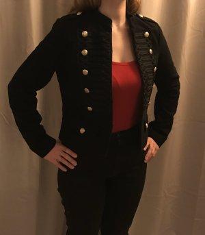 Eleganter schwarzer Blazer mit Goldknöpfen / GAP