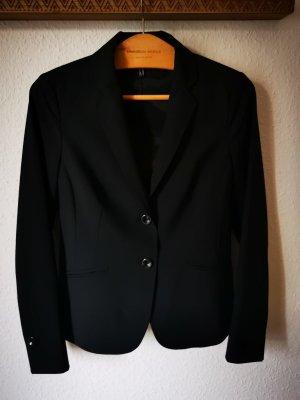 Daniel Hechter Garnitur biznesowy czarny Tkanina z mieszanych włókien